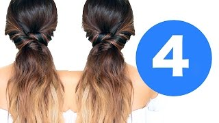 ★ 4 LAZY WINTER HAIRSTYLES 💙 | Girls EASY HAIRSTYLES