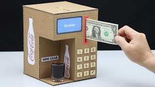 How to Make Coca Cola Fountain Machine from Cardboard
