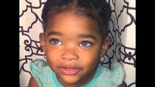 M&M twins black with blue eyes
