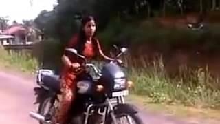 13 year school girl riding bike