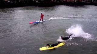 SURF en RÍO URUMEA. OLAS GIGANTES en DONOSTIA- SAN SEBASTIÁN | surf giant waves in a river