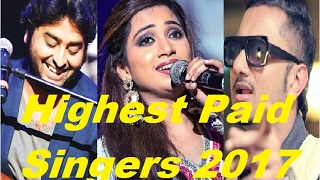 Top 10 Highest Paid Indian Playback Singers of Bollywood 2017