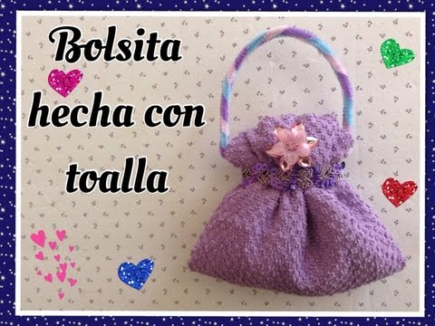 BOLSITA HECHA CON UNA TOALLITA FACIAL . HANDBAG MADE WITH WASHCLOTH.