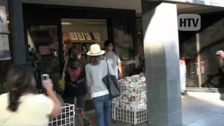 Jessica Alba Shops At Michaels In Santa Monica.
