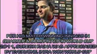 Suresh Raina- International Career