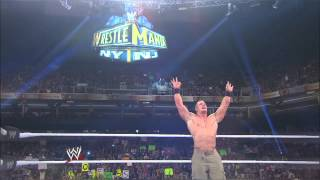 A look at the WrestleMania 29 WWE Championship Match between The Rock and John Cena: Raw, March 11,