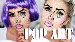 Pop Art Makeup! ♡ Halloween Idea - Comic Book, Crying Cartoon Girl