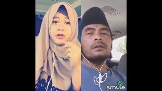 Smule lucu   Duet cewek cantik vs orang Madura nyanyi lagu jawa.