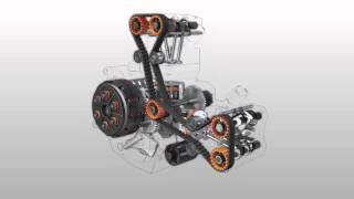 Ducati Desmoquattro engine exploded view