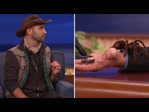 Coyote Peterson Introduces Conan And Jeff Goldblum To Some Creatures CONAN on TBS