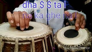 Tabla keherwa taal  कहरवा ताल मध्य  और तेज लय में