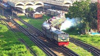 Chattala Express (চট্টলা এক্সপ্রেস ট্রেন) leaving Dhaka Railway Station- Bangladesh Railway