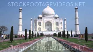 Taj Mahal Classic View from the Front with the Mirror Pool