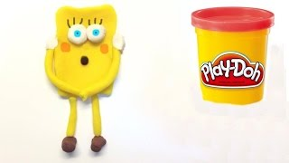 Spongebob Patrick And Minecraft Enderman Play doh STOP MOTION playdo video plastelin