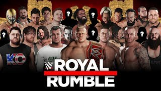 WWE 2K18 Royal Rumble - 30 Man match & New Gameplay Mechanics