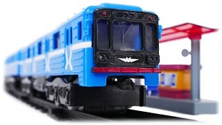 TRAINS FOR CHILDREN VIDEO: Train Metro Model Russian Moscow Metro, Second Toys Review