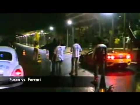 Fusca vs Ferrari