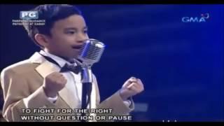 Amazing Kid Singing The