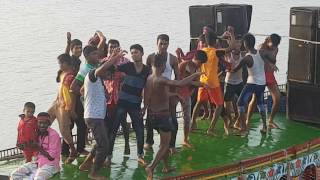 Dance in boat/ashulia river/beribadh pagla dance (part 1)