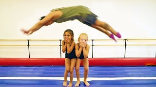 Everleigh and Ava FLIP OUT at GYMNASTICS! (Bestie Goals!)
