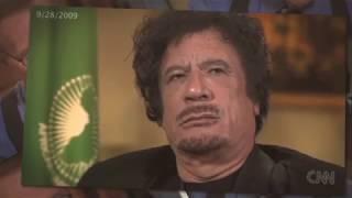 القذافي تحت تأثير المخدرات في حوار علي قناة السي ان ان