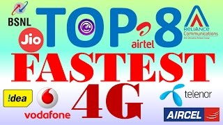 India's Top 8 Fastest and cheapest 4G Service Providers | Download | Upload | Speed