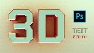 JEITO FÁCIL - COMO CRIAR TEXTO 3D NO PHOTOSHOP - Efeito 3D em texto - Tutorial de Photoshop 3D