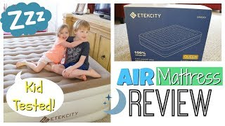 Air Mattress Review | Kids Help Mom!
