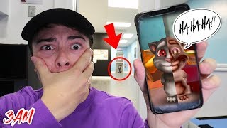 (POSSESSED) DO NOT CALL TALKING TOM AT 3 AM!! *THIS IS WHY* (HE CAME TO LIFE)