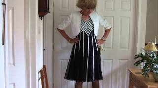 Crossdresser in Garden party outfit