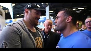 Tyson Fury ACCEPTS CHALLENGE from Manuel Charr after HEATED CONFRONTATION!!!