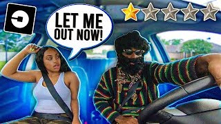 Picked Up My  GIRLFRIEND Up In A UBER UNDER DISGUISE!!! *went terrible*