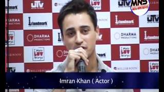 I Hate Love Story Promotion by Imran Khan