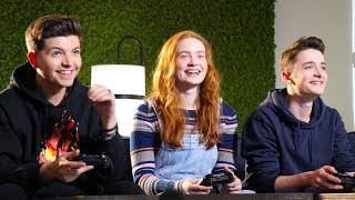 PLAYING GAMES with the STRANGER THINGS CAST! (Season 3)