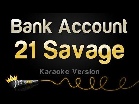 21 Savage Bank Account Karaoke Version
