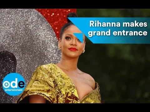 Rihanna makes grand entrance at Ocean's 8 premiere