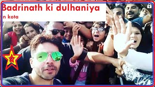 Badrinath Ki dulhania live shooting at kota |Aliya Batt & Varun dhawan
