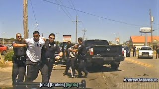 Police Dashcam Captures Chase of Reckless Driver in Louisiana