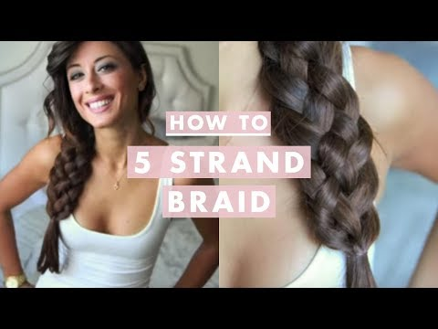 How To Five 5 Strand Braid