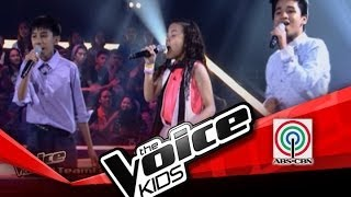 """The Voice Kids Philippines Battles  """"Hey, Soul Sister"""" by Kobe, Lorenzo, and Shanne"""