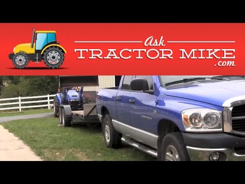Loading a Tractor on a Trailer Safely