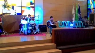 Wake by Hillsong (Rosh on drums and Mikhail on guitars)
