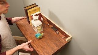 Saturday Morning Workshop: Floating Shelf with a Secret Drawer
