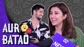 Jabariya Jodi Sidharth Malhotra, Parineeti Chopra reveal their 'Jodi breaker' | AUR BATAO