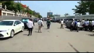 CNRP lawmakers beaten at National Assembly protest