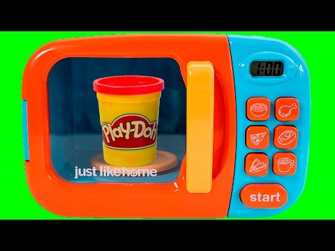 play home microwave oven toy play doh just like home toy cutting food cooking playset toy videos. Black Bedroom Furniture Sets. Home Design Ideas