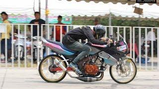 Drag Bike NU-NUT Suphanburi สนาม 1 2559 รุ่น 2T 150cc Touring  ชมทุกรุ่นที่ www.forspeed1.com