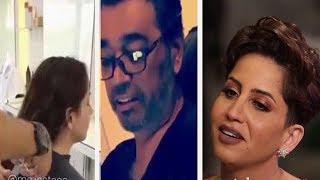 تعليق عصام مال على قصة شعر زوجته مشاعل