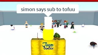 ROBLOX SIMON SAYS *GET FREE SUBSCRIBERS*