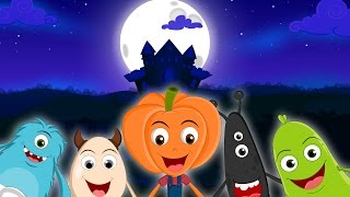 Five Little Monsters Jumping On The Bed | Halloween Songs For Kids | Kids Songs | Preschool